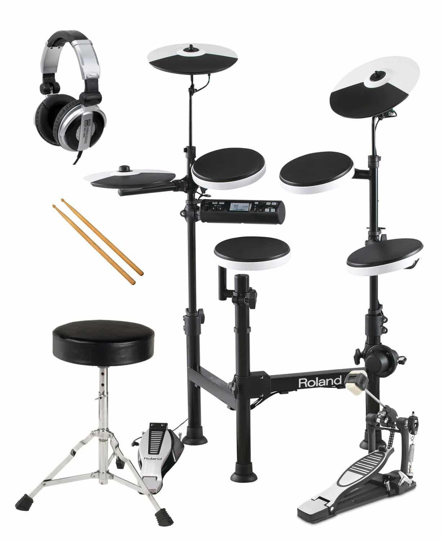 Roland TD 4KP V Drum Portable E Drum SET inkl. Kopfhörer Hocker Fußmaschine Sticks