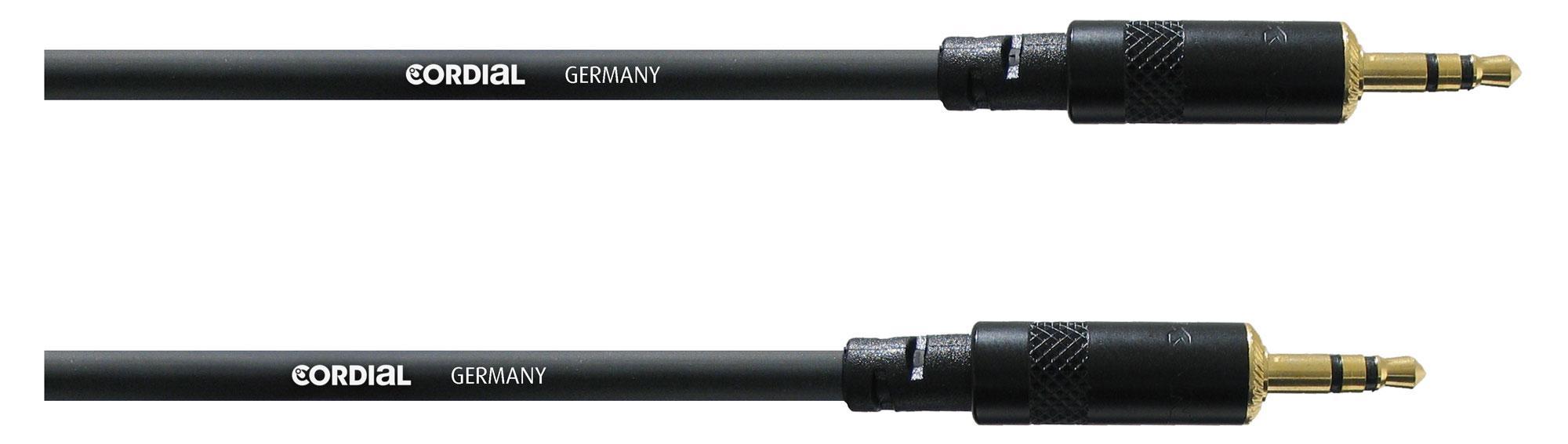 Kabelmulticores - Cordial CFS 3 WW Stereoklinkenkabel 3 m Schwarz - Onlineshop Musikhaus Kirstein