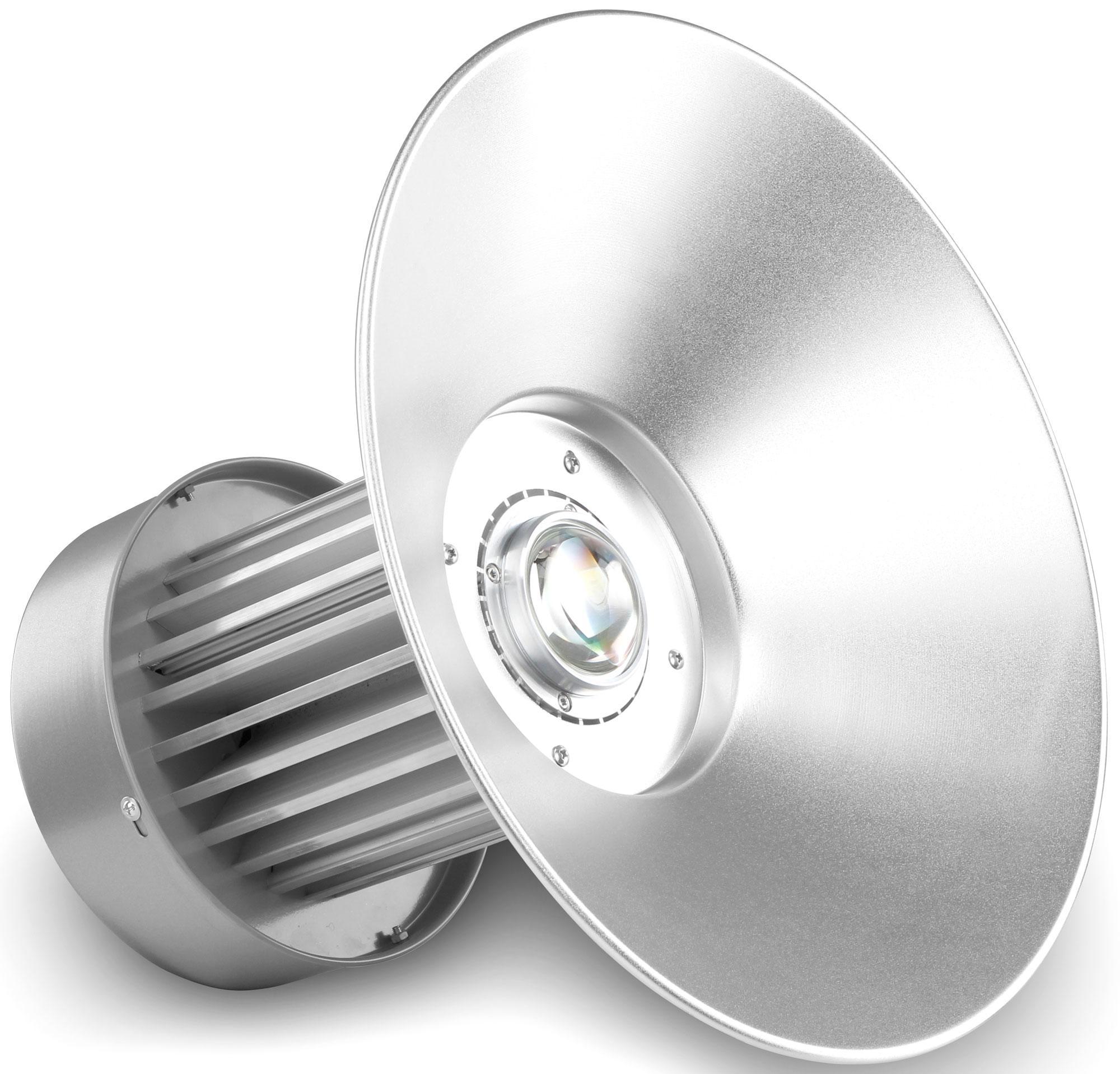 Timbre Luces Low Bay Lighting: Showlite HBL-100 COB LED High Bay Hanging Spotlight 100W