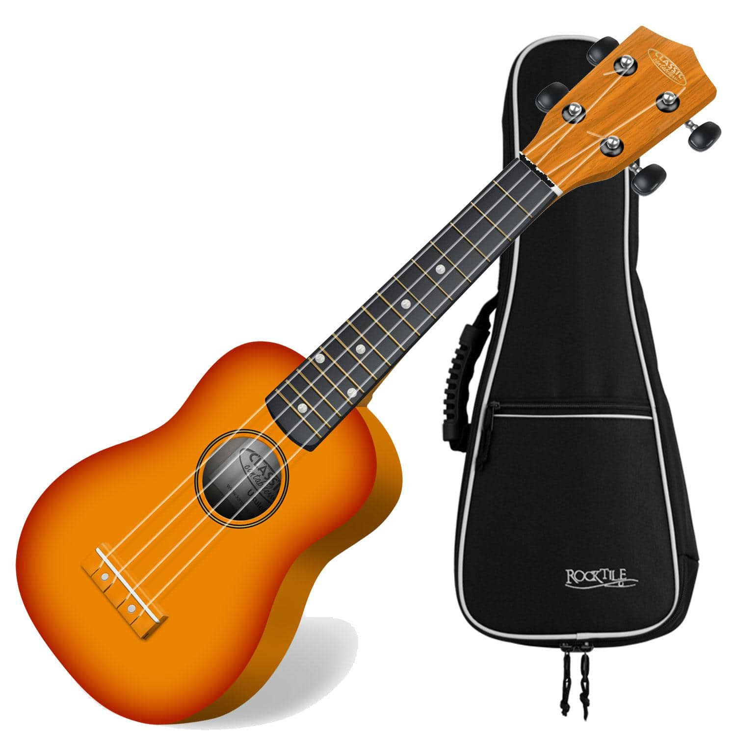 Classic cantabile us 100 sb set sunburst soprano ukulele for Classic house bass