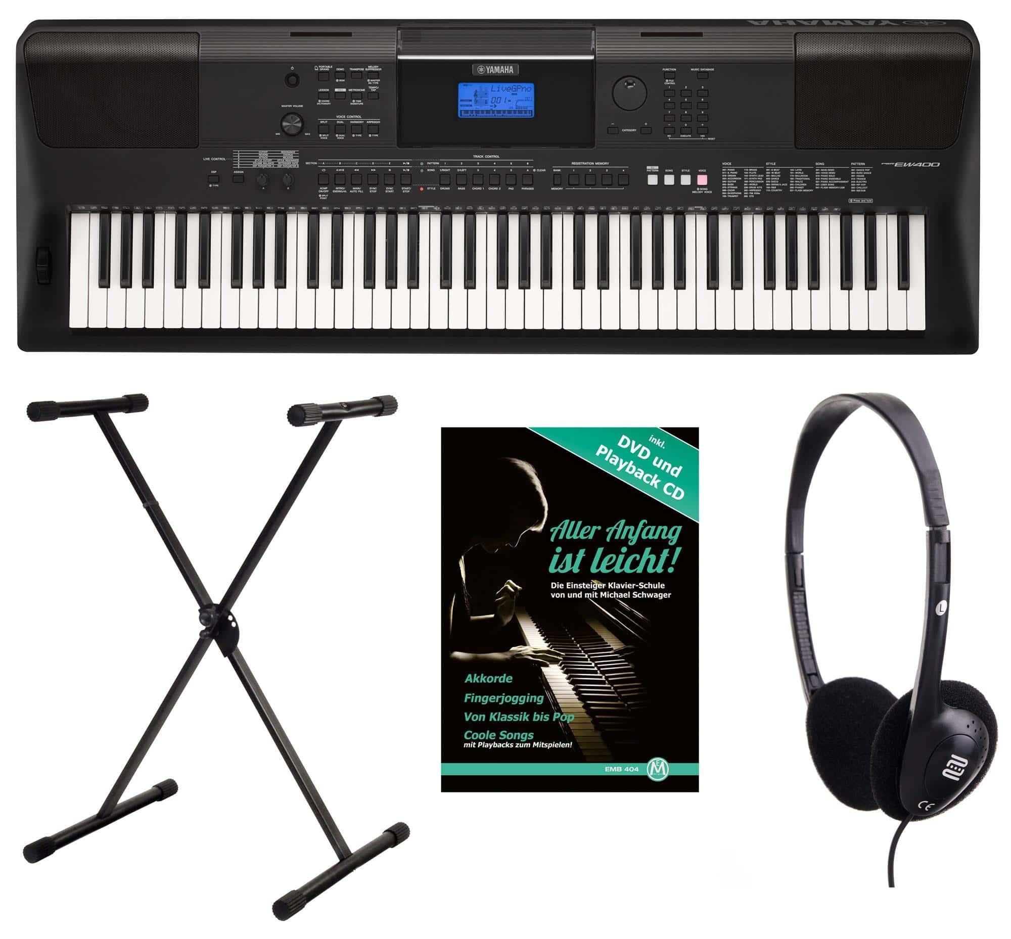 Yamaha psr ew 400 keyboard mit 76 tasten set for Yamaha ew 400