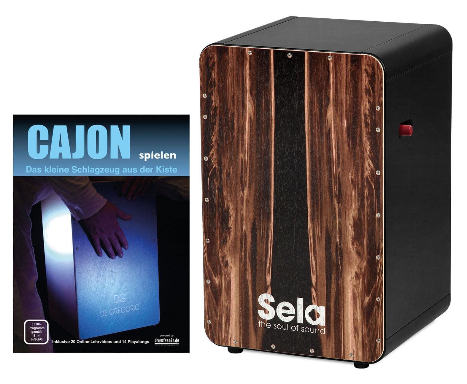 Sela SE 107 CaSela Black Pro Dark Nut Set inkl. Cajonschule