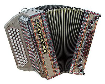 Lanzinger 34 Diamant Harmonika 4-reihig, 3-chörig B-Es-As-Des