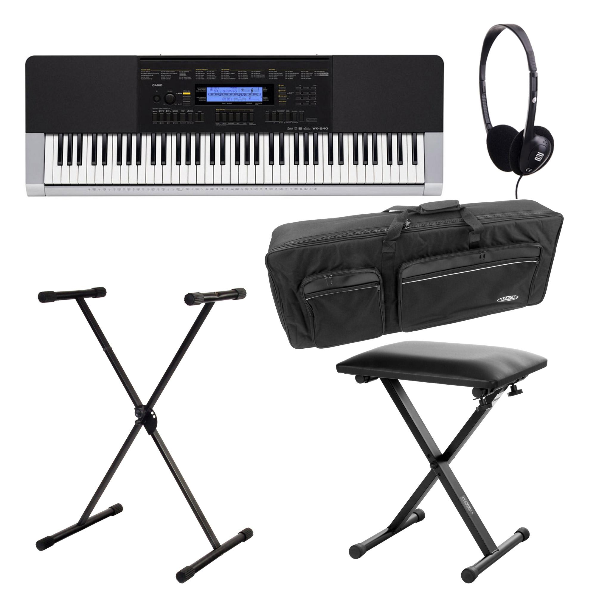 Casio WK 240 Keyboard Deluxe SET