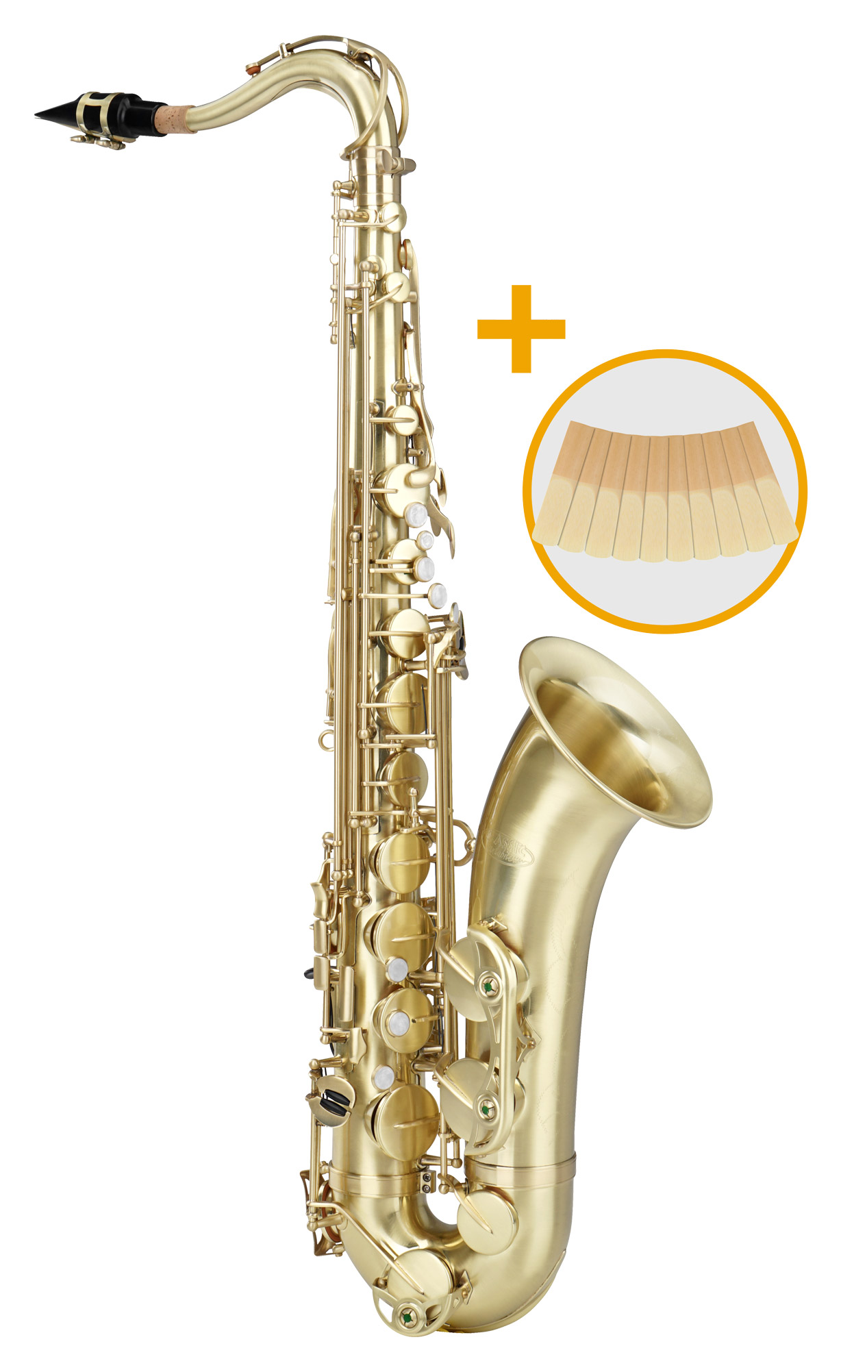 Saxophone - Classic Cantabile Winds TS 450 Brushed Bb Tenorsaxophon 2.5 Reed Set - Onlineshop Musikhaus Kirstein