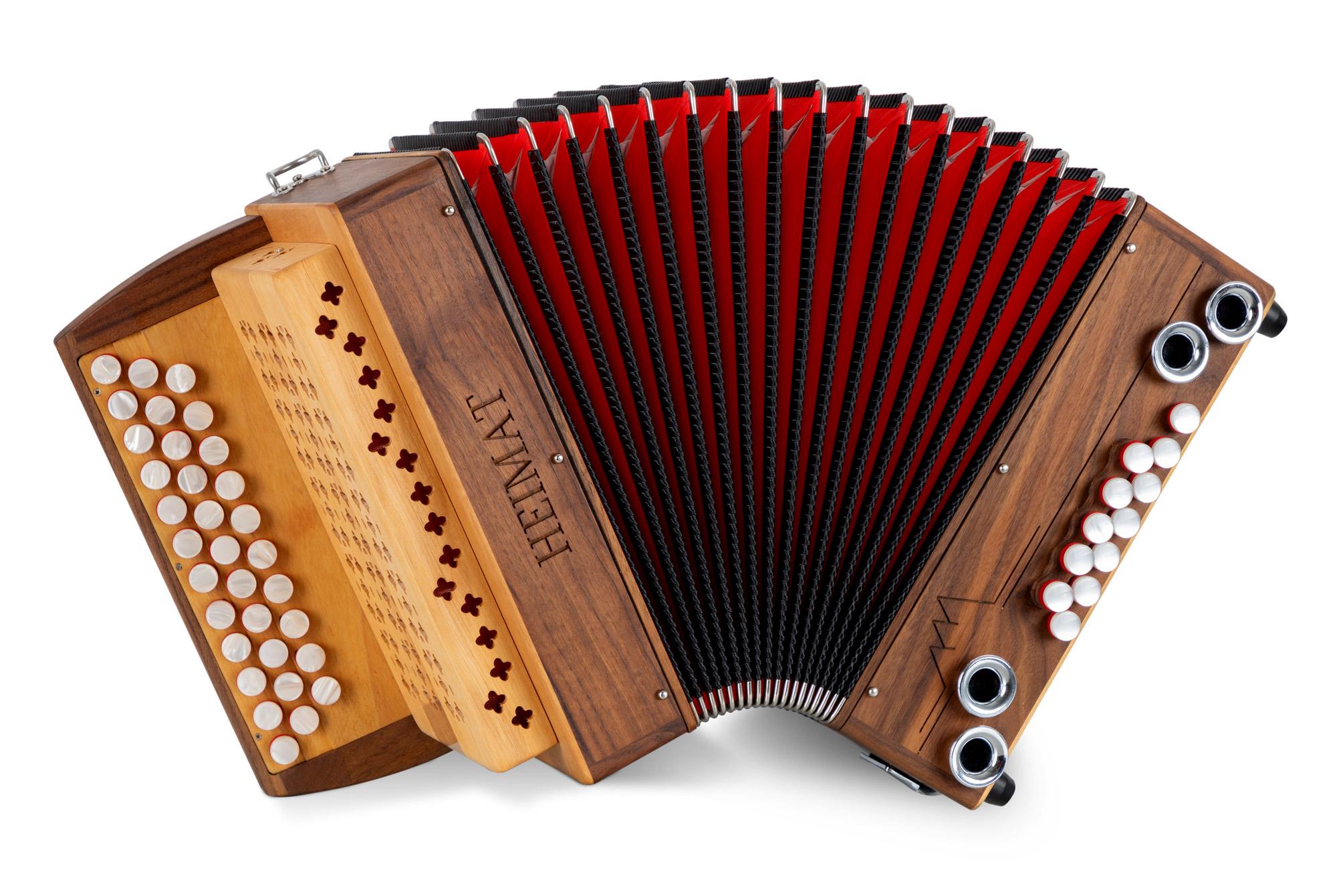 Akkordeons - Heimat 3|II Harmonika G C F Nuss - Onlineshop Musikhaus Kirstein