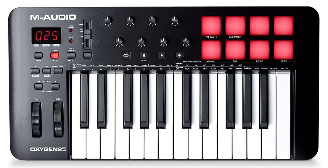 Midimasterkeyboards - M Audio Oxygen 25 MKV USB MIDI Keyboard - Onlineshop Musikhaus Kirstein