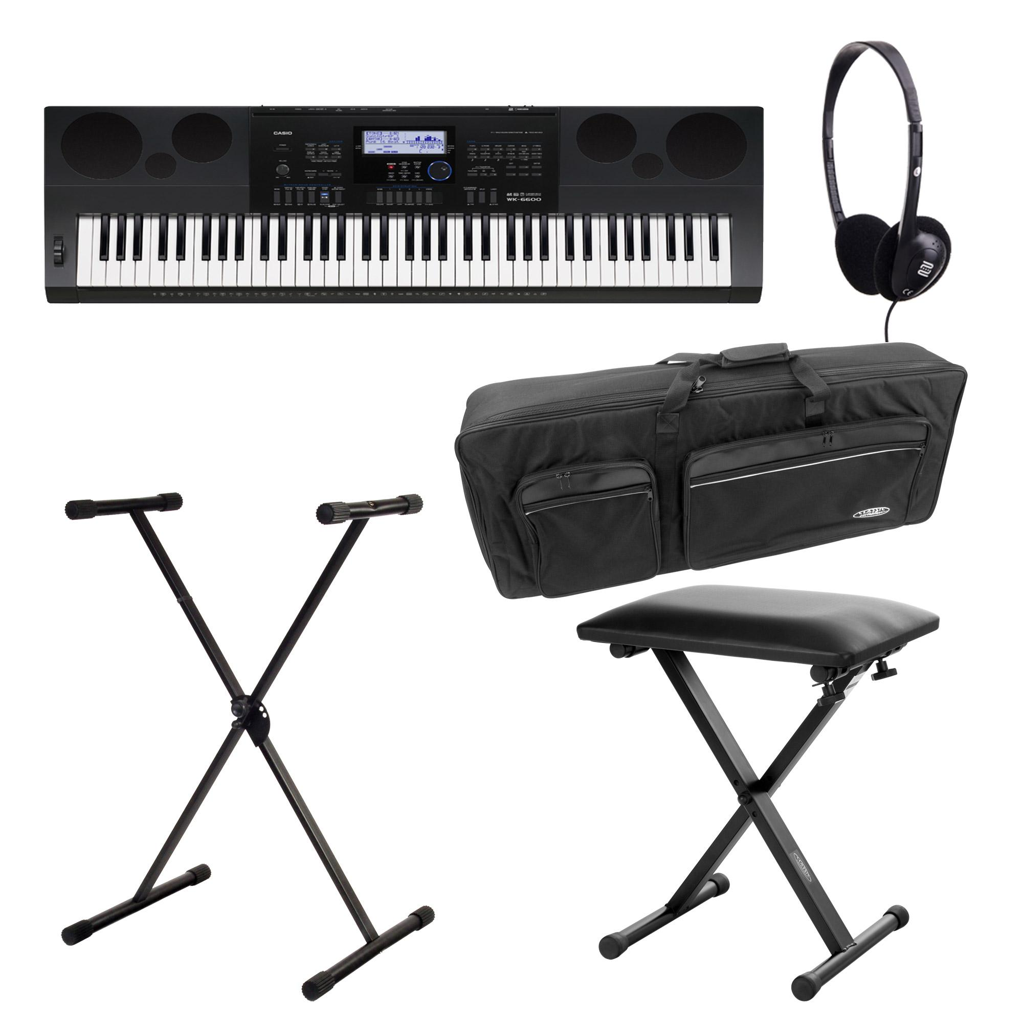 SET Casio WK 7600 Keyboard Deluxe