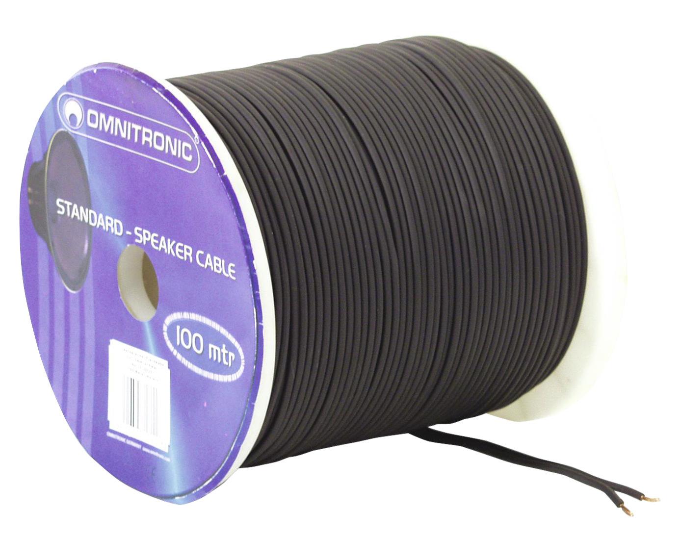 Kabelmulticores - Omnitronic Lautsprecherkabel 2x 1,5 mm² 100m Schwarz - Onlineshop Musikhaus Kirstein