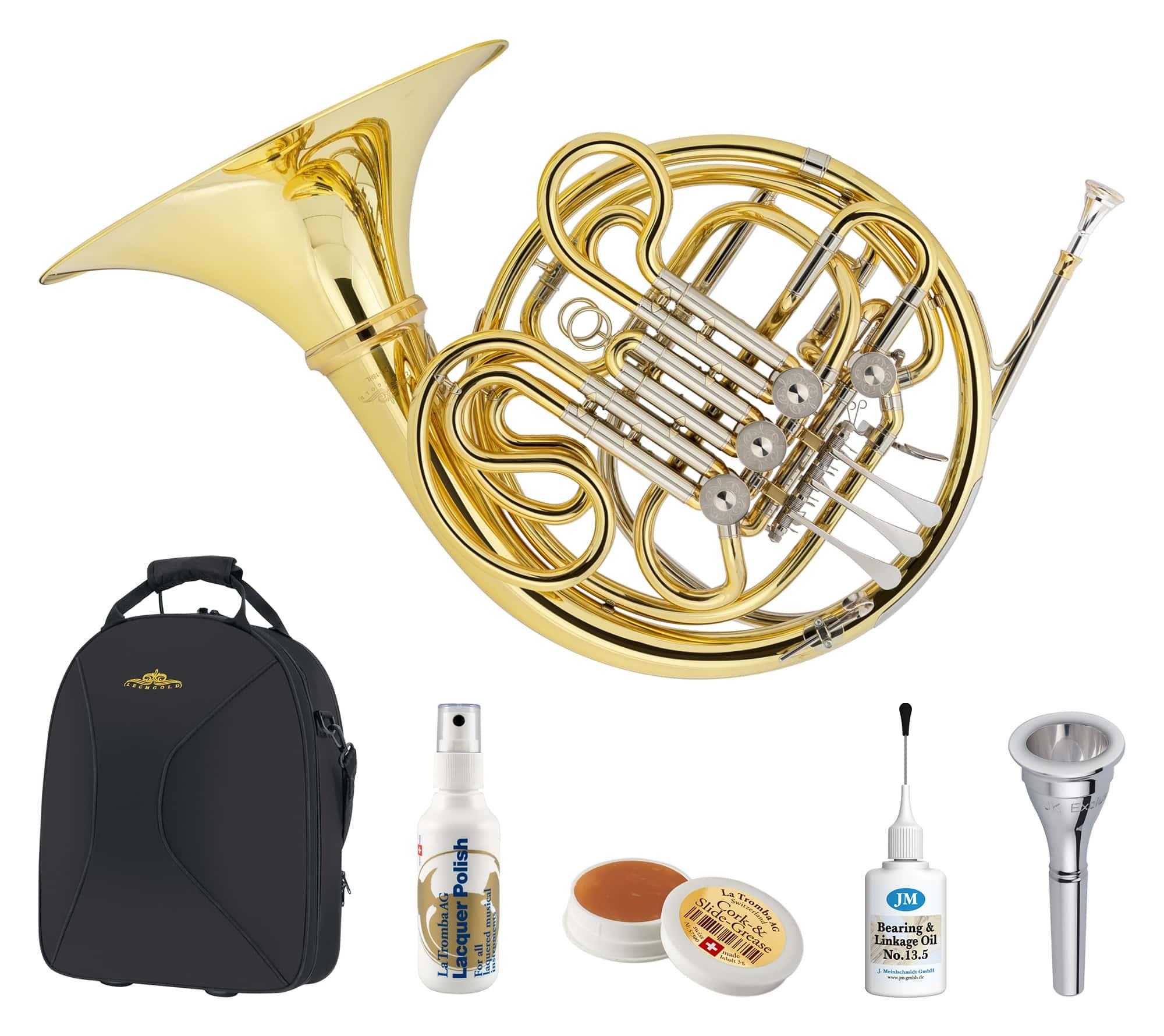 Hoerner - Lechgold DH 18HL Doppelhorn Deluxe Set - Onlineshop Musikhaus Kirstein