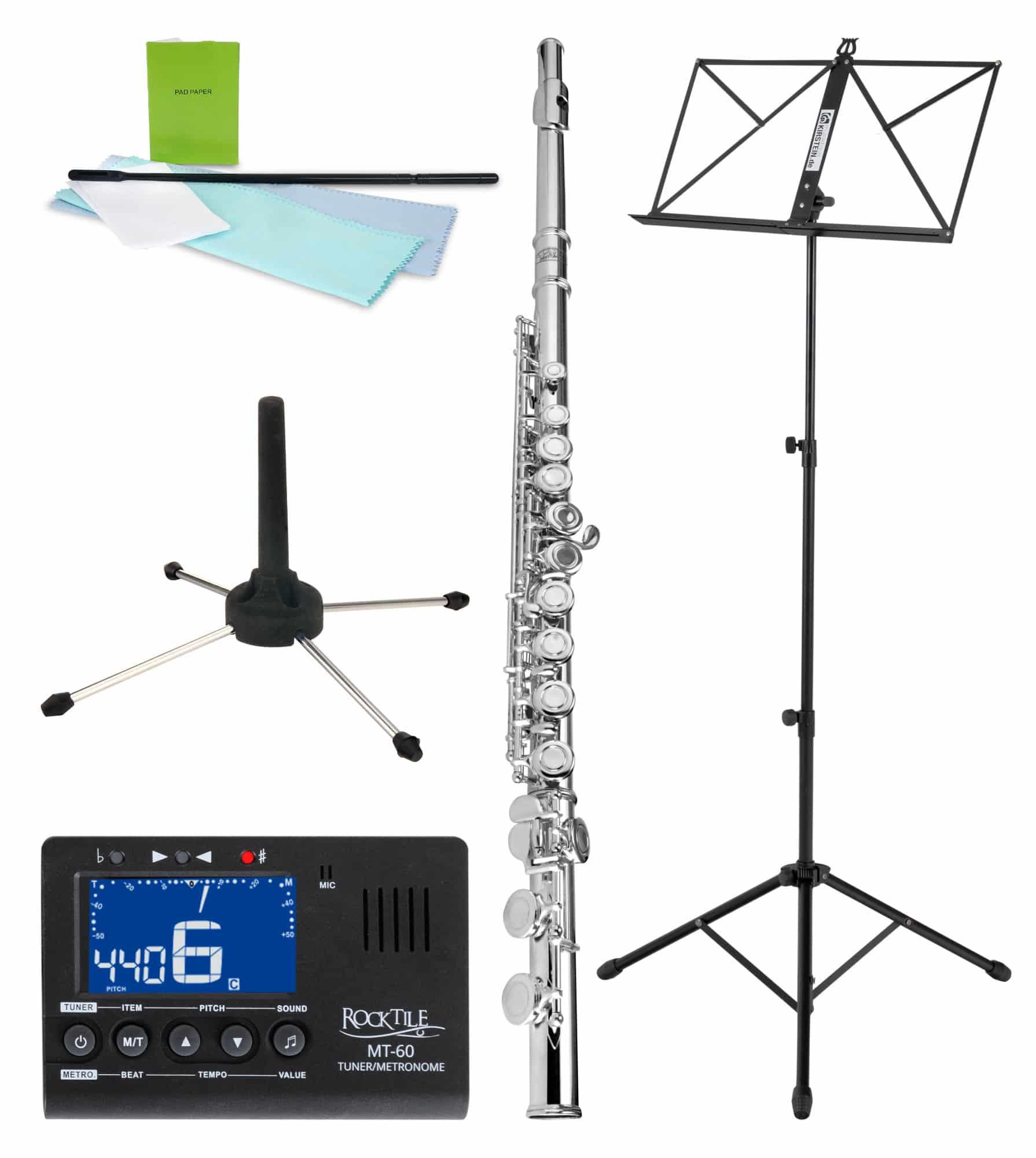 Sonstigeblasinstrumente - Classic Cantabile FL 200 Querflöten Komplettset - Onlineshop Musikhaus Kirstein