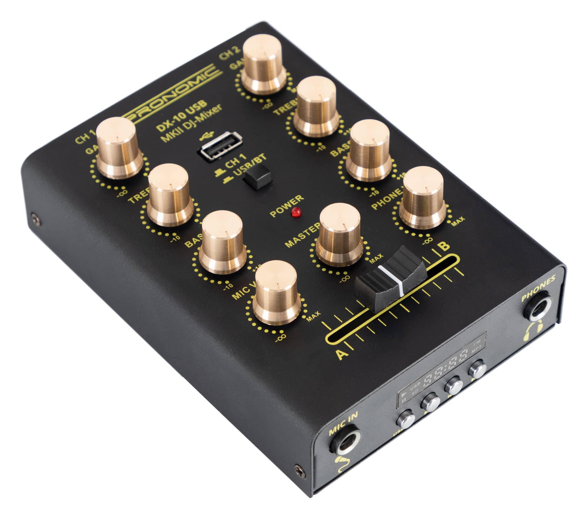Djmixer - Pronomic DX 10 USB MKII DJ Mixer - Onlineshop Musikhaus Kirstein