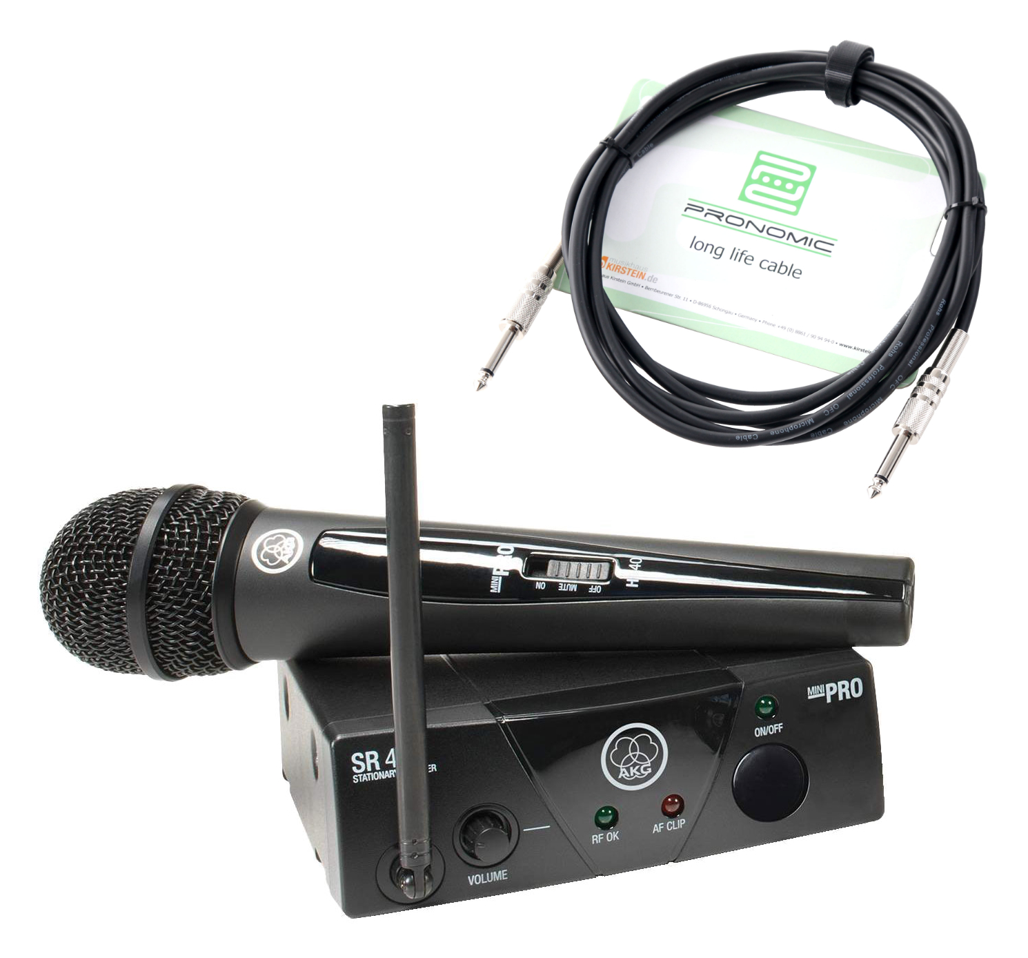 Drahtlossysteme - AKG WMS 40 Mini Vocal Handfunkmikrofon ISM2 Set - Onlineshop Musikhaus Kirstein