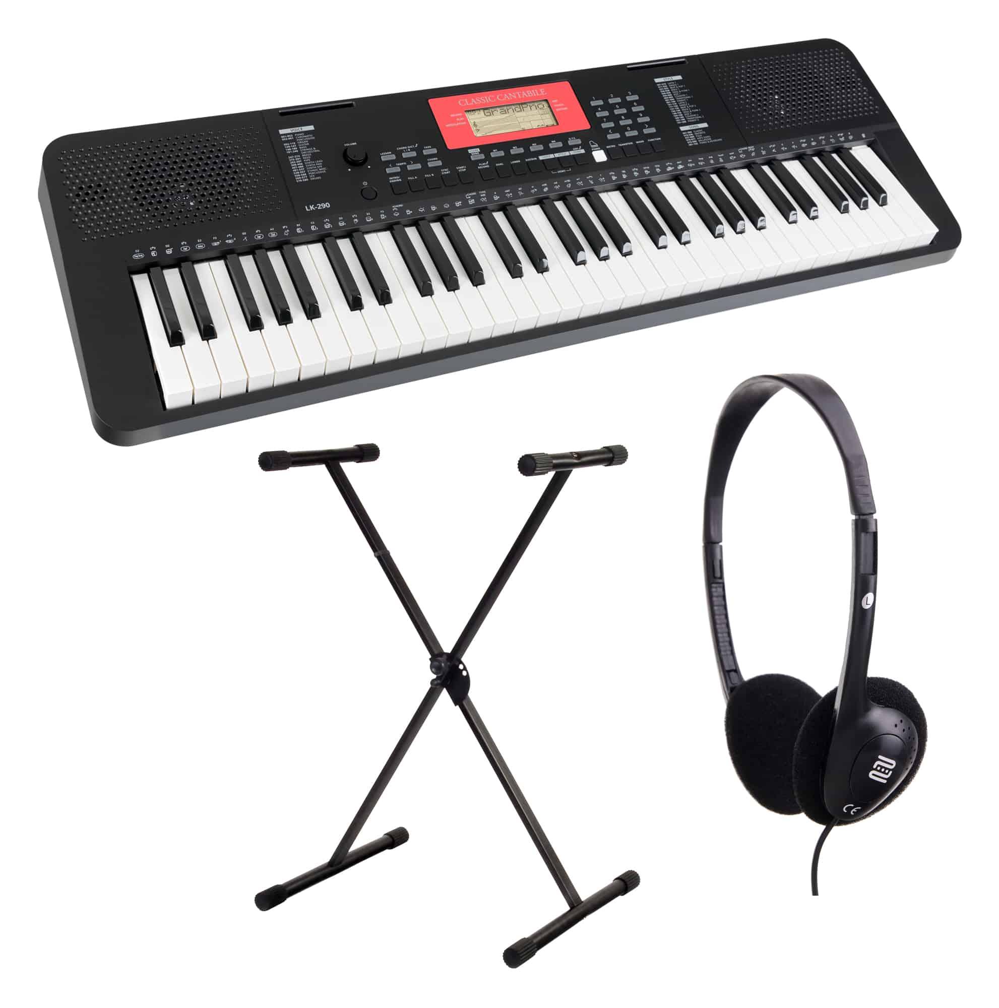 Homekeyboards - Classic Cantabile LK 290 Leuchttasten Keyboard Set inkl. Keyboardständer und Kopfhörer - Onlineshop Musikhaus Kirstein