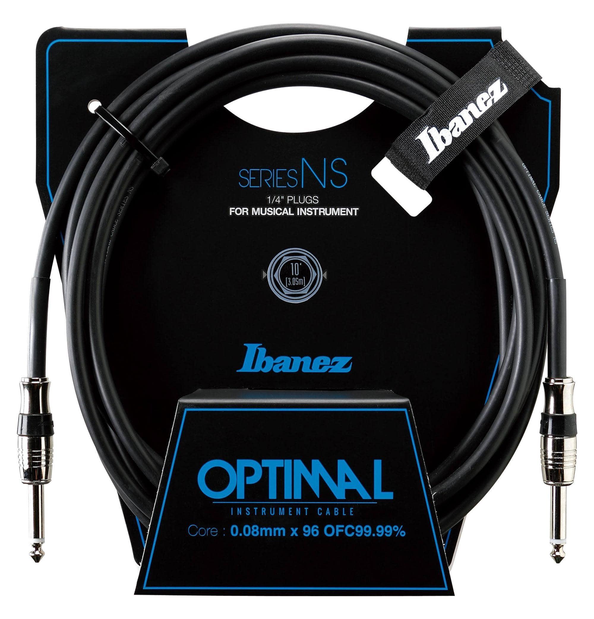 Ibanez NS10 Optimum Guitar Cable 3,05m Black
