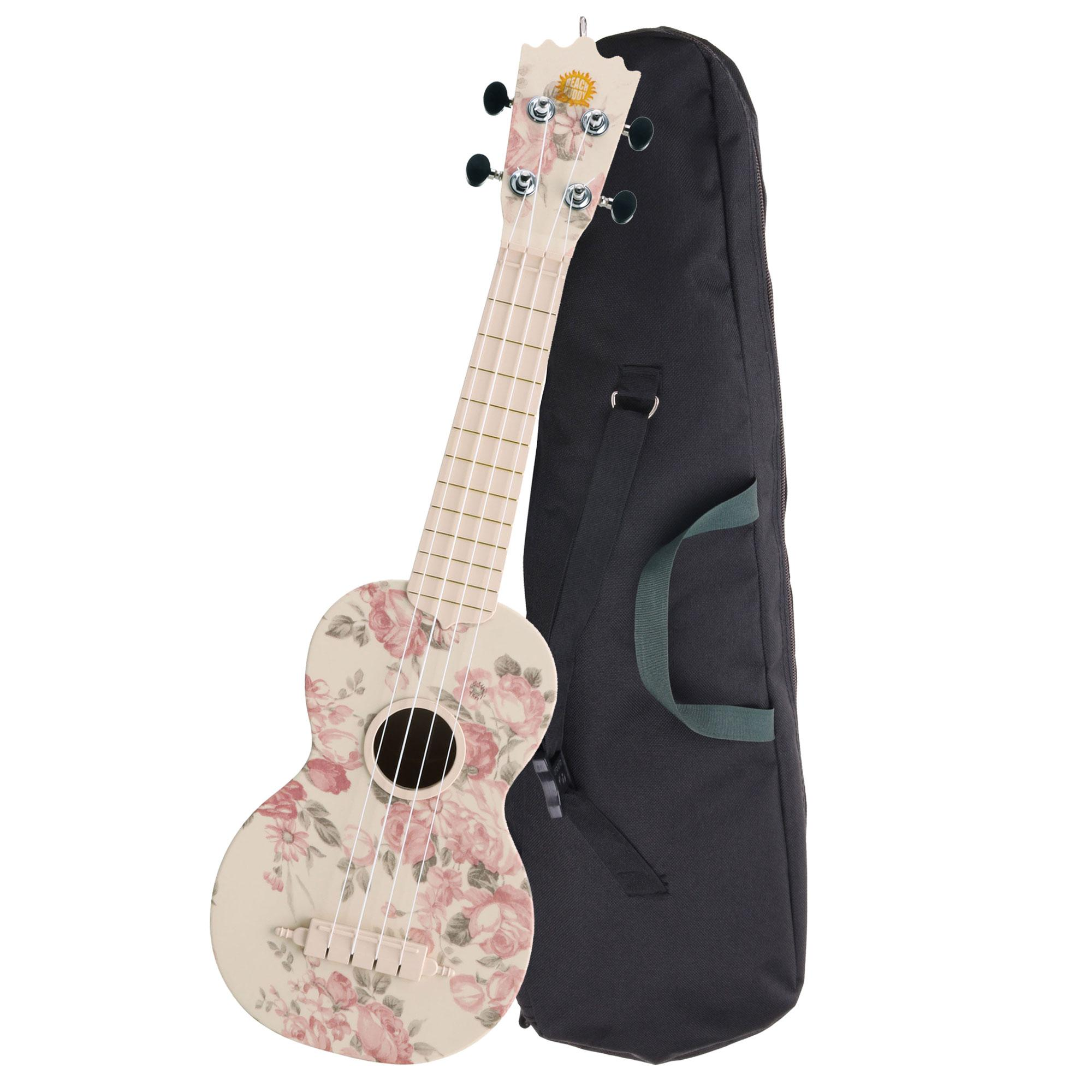 Classic Cantabile BeachBuddy Desert Rose, Sopran Ukulele ABS