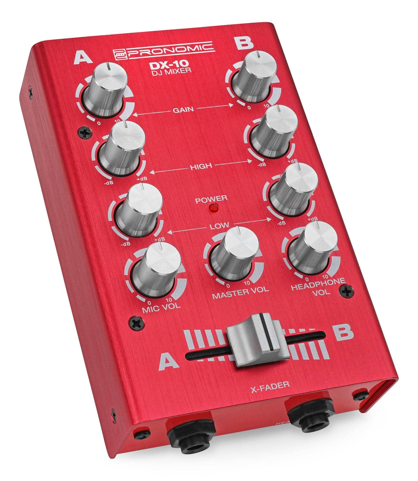 Pronomic DX 10R DJ Mixer Rot