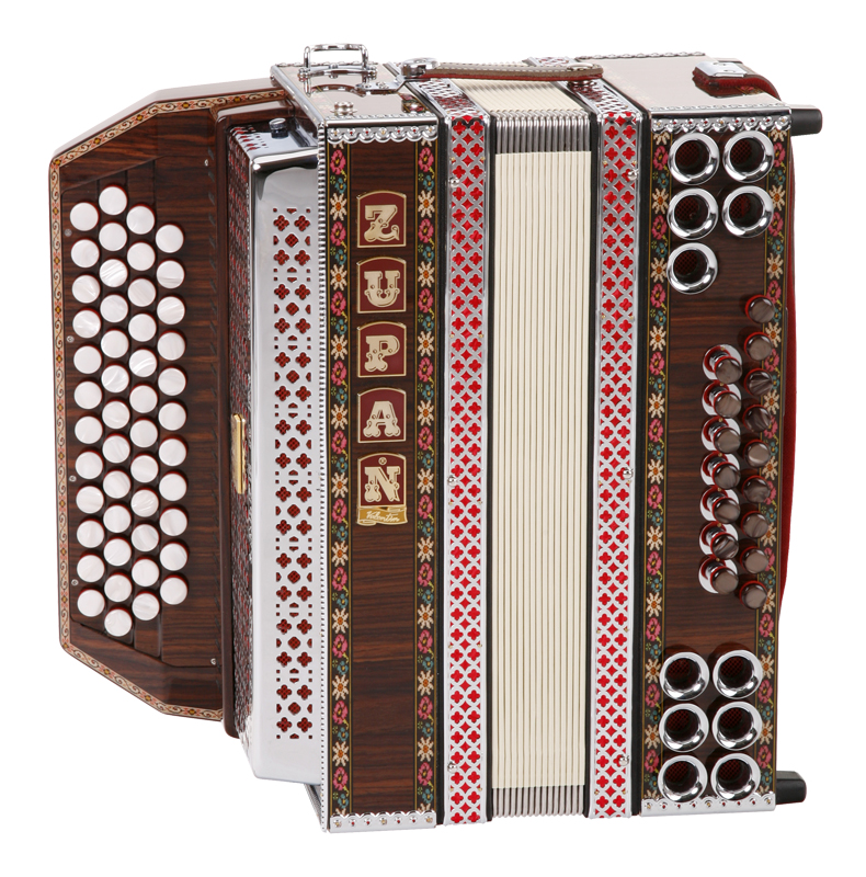 Akkordeons - Zupan Alpe IVD Harmonika Palisander (B Es As Des) - Onlineshop Musikhaus Kirstein