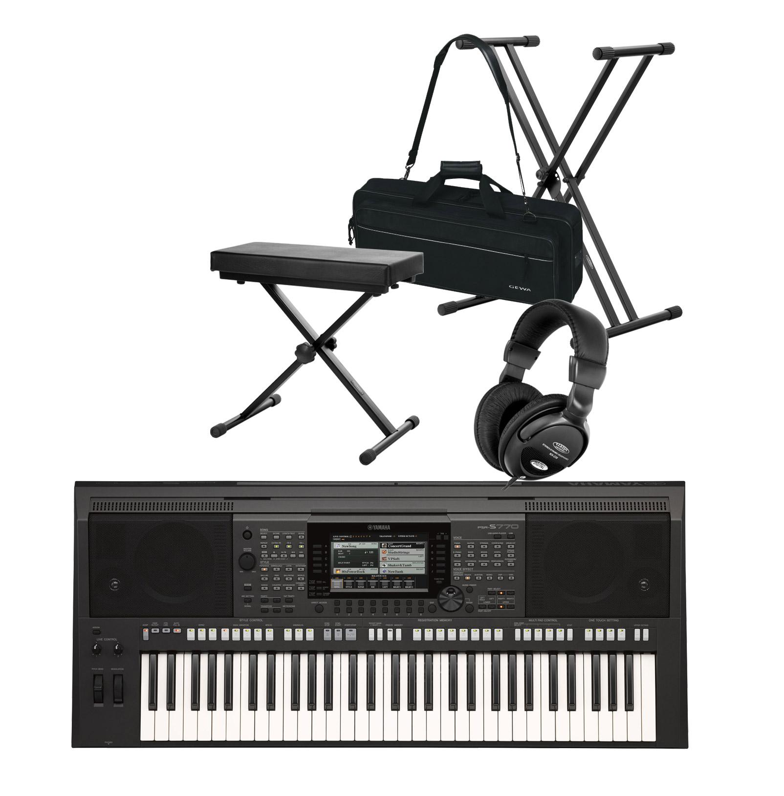 yamaha psr s770 keyboard deluxe set kirstein music shop. Black Bedroom Furniture Sets. Home Design Ideas