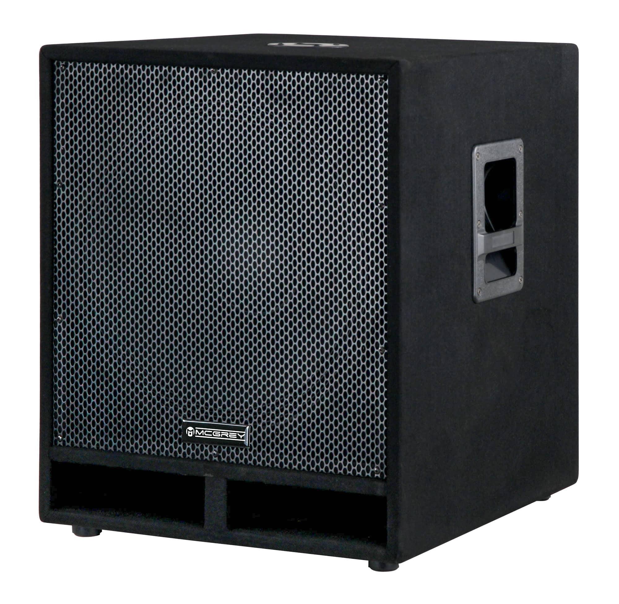 Paendstufen - McGrey PAS 118 18' passiver PA Subwoofer Bass Lautsprecher Box 1800 Watt Retoure (Zustand gut) - Onlineshop Musikhaus Kirstein