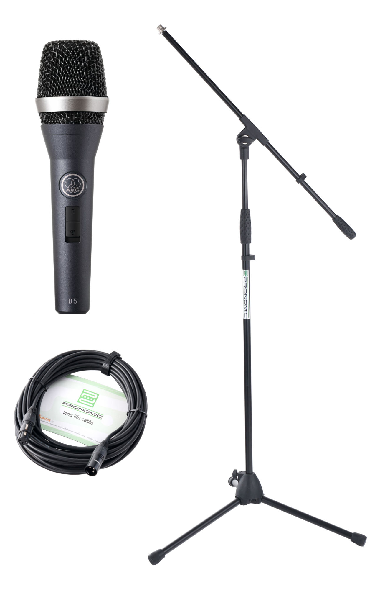 AKG D 5 S Mikrofon Set Ständer Kabel