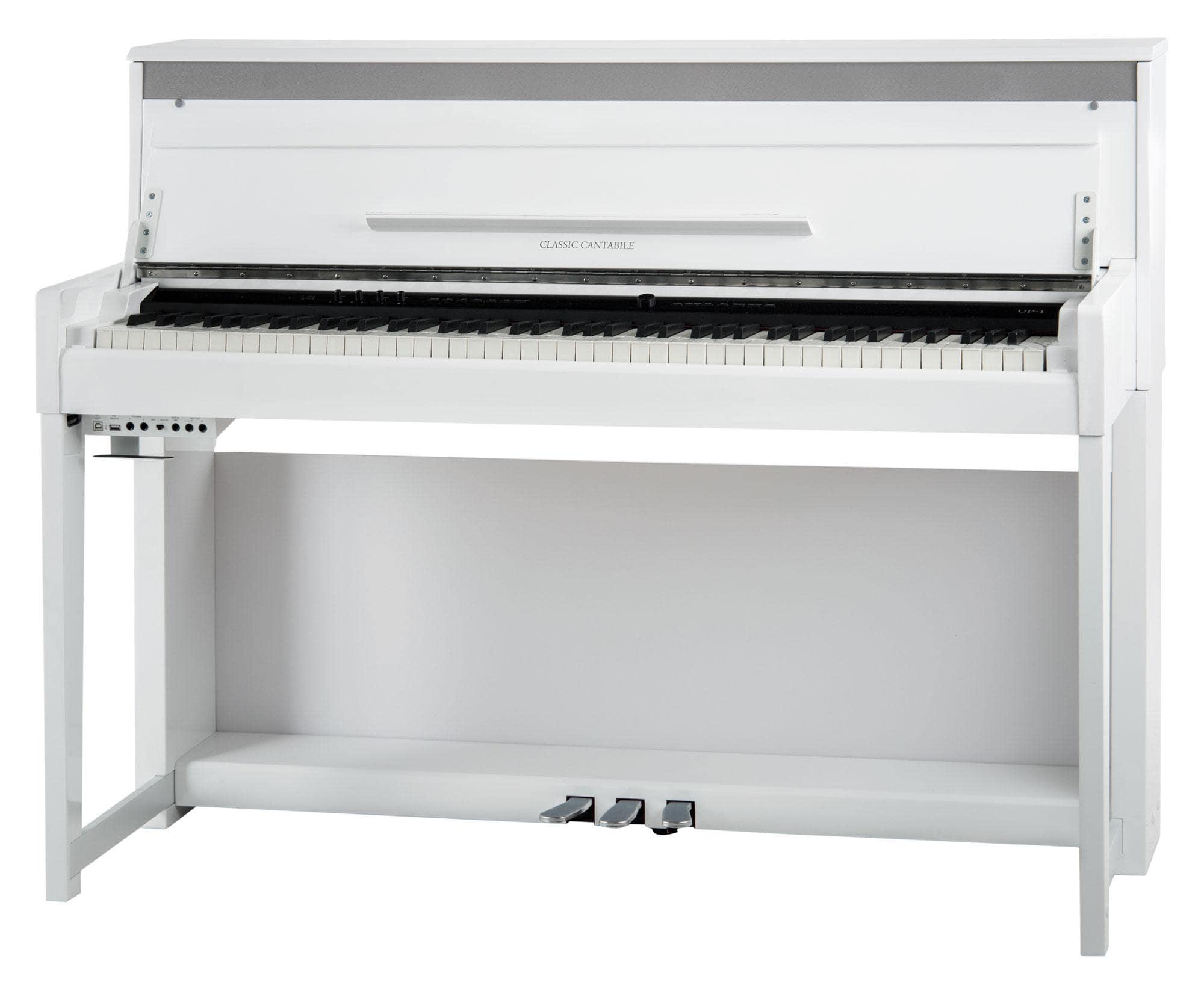 Classic Cantabile UP 1 WM Upright E Piano Weiß matt