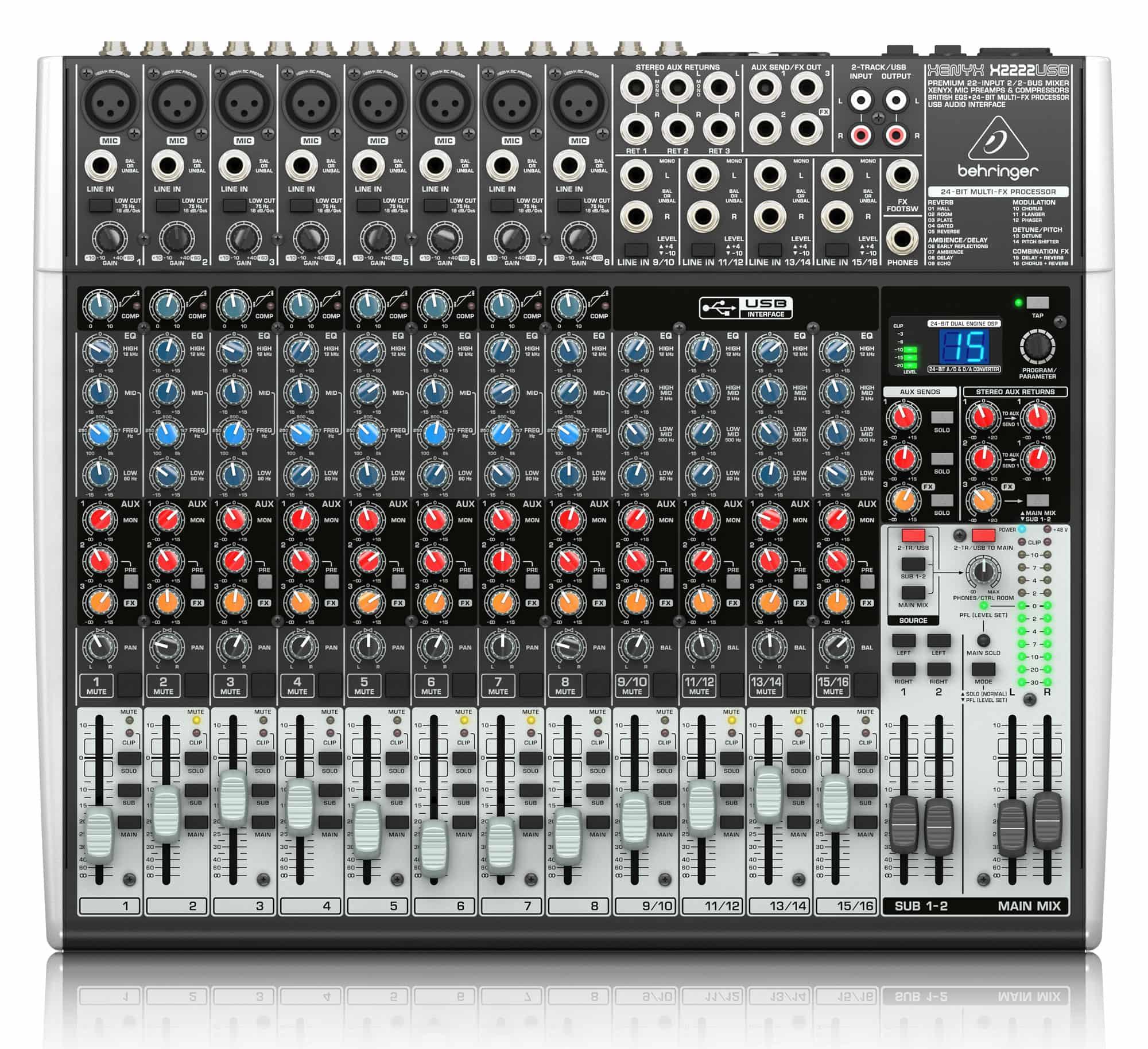 Mischpulte - Behringer Xenyx X2222 USB Mischpult - Onlineshop Musikhaus Kirstein