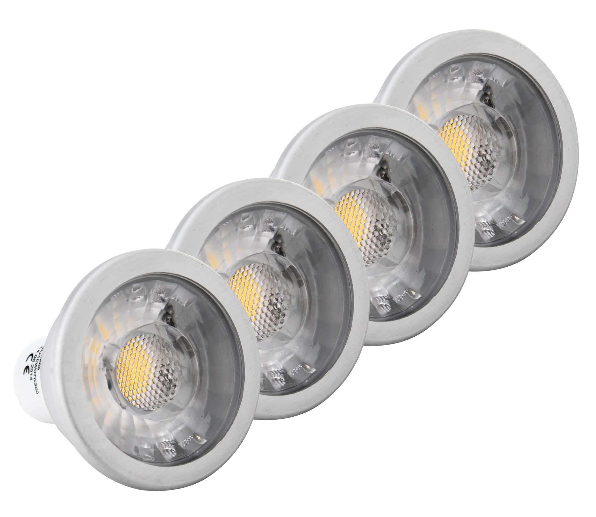 4x set showlite led spot cob gu10w07k30d 7 watt 550 lumen. Black Bedroom Furniture Sets. Home Design Ideas