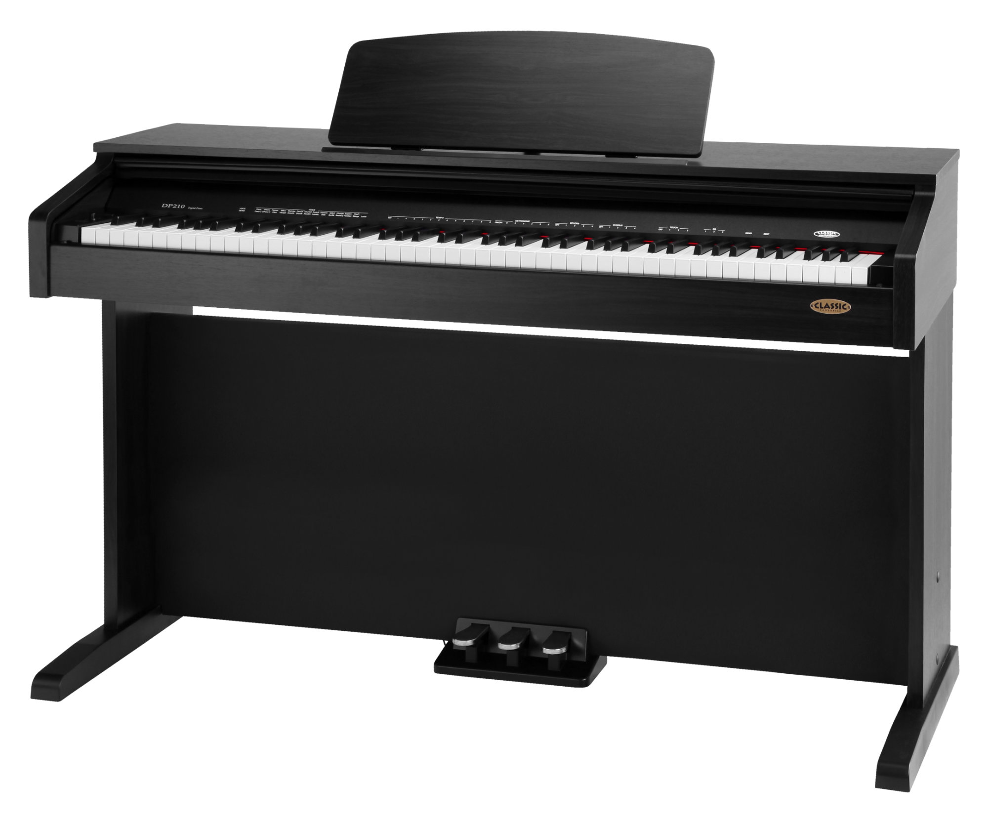 Classic Cantabile DP 210 SM E Piano schwarz matt