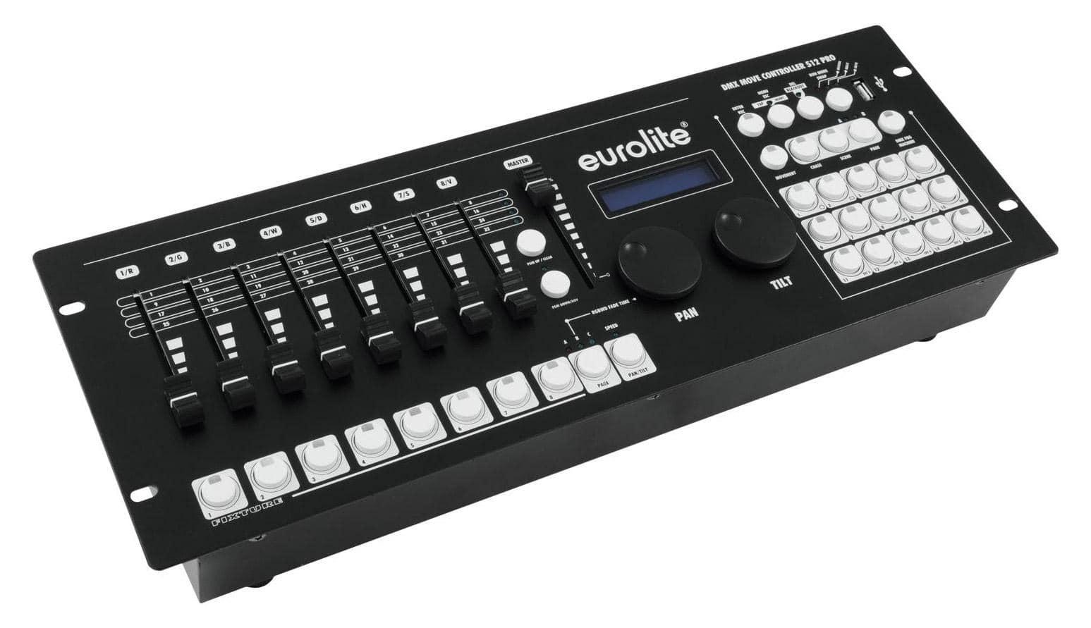 Lichtsteuerung - Eurolite DMX Move 512 PRO Moving Head Controller - Onlineshop Musikhaus Kirstein