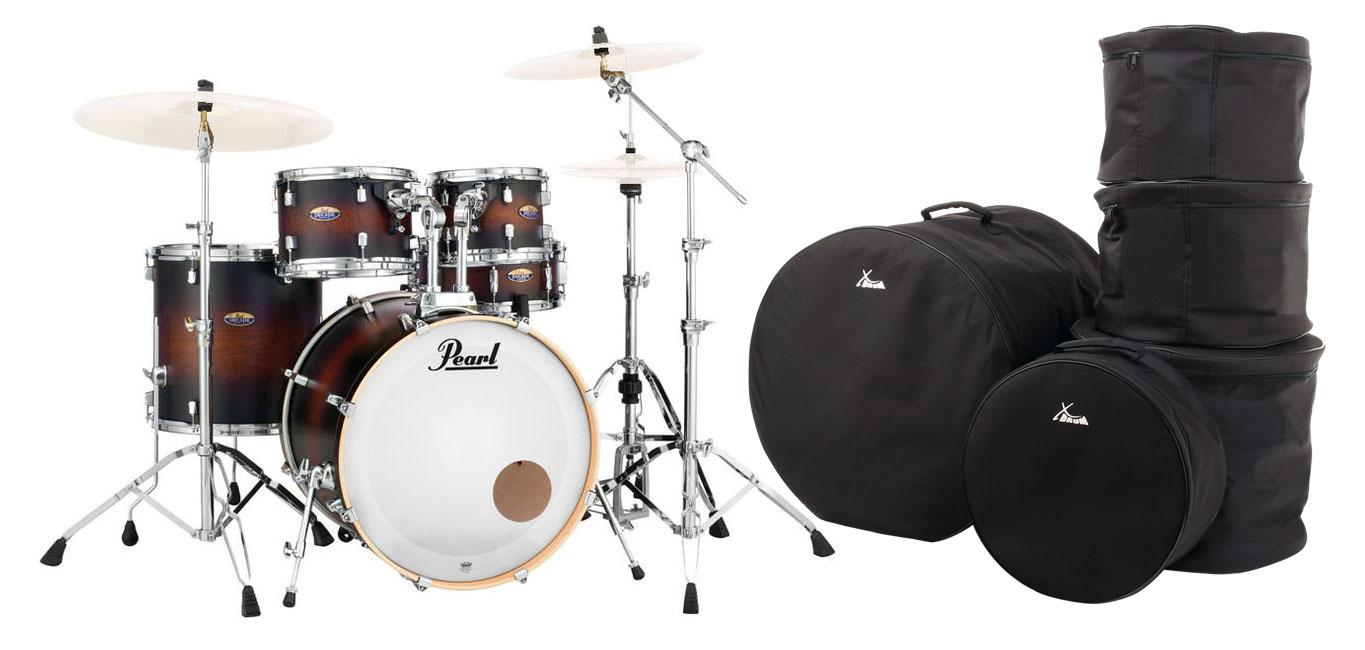 Pearl DMP925S|C260 Decade Maple Satin Brown Burst Set inkl. Gigbags
