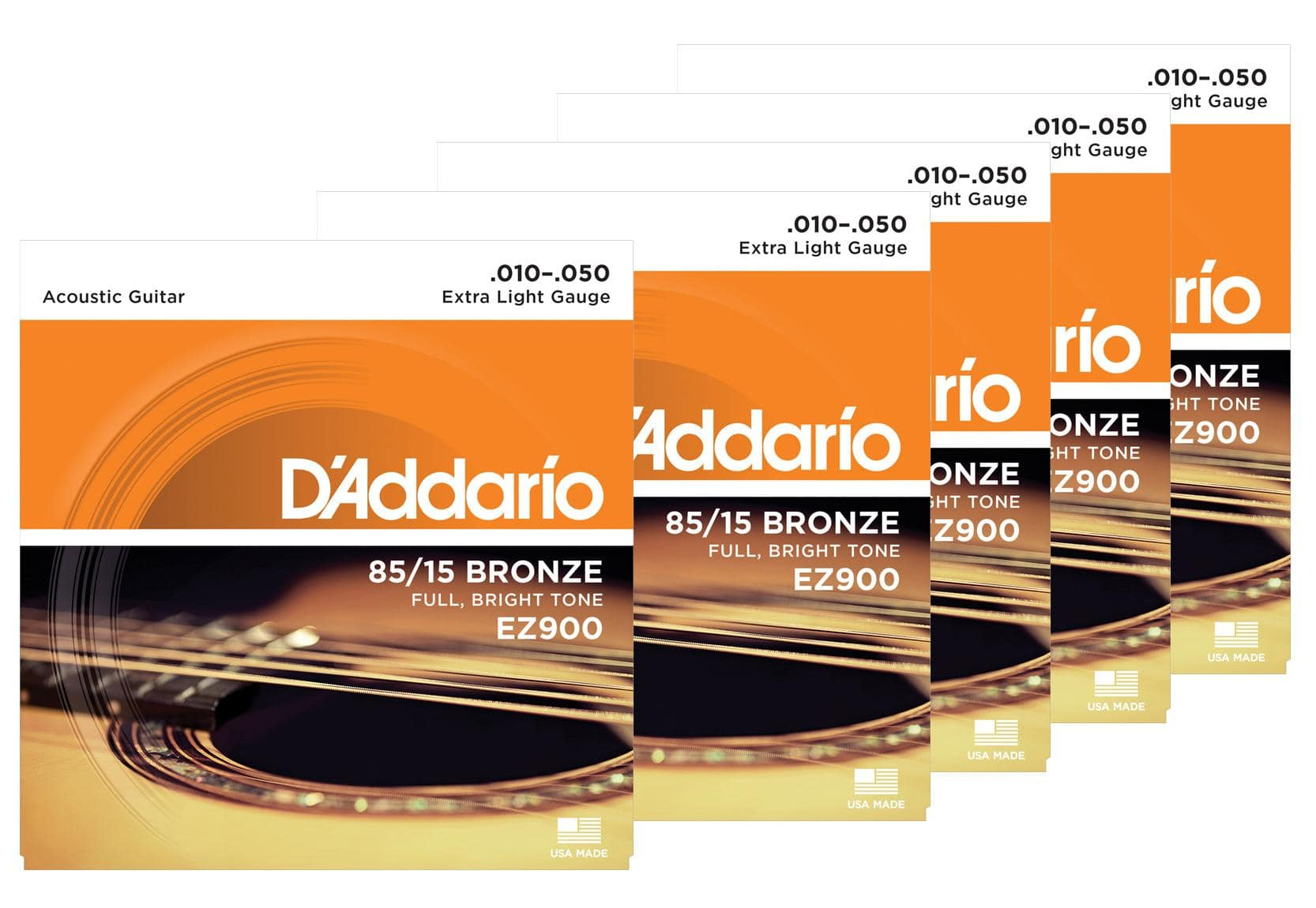 D'Addario EZ900 Extra Light 5er Pack