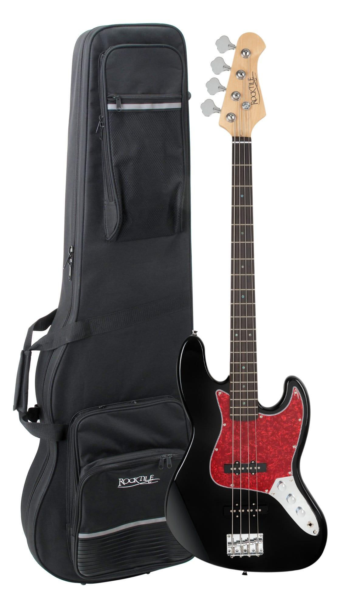 Ebaesse - Rocktile Pro JB 30BK 70s Deluxe E Bass Black Set inkl. Leichtkoffer - Onlineshop Musikhaus Kirstein