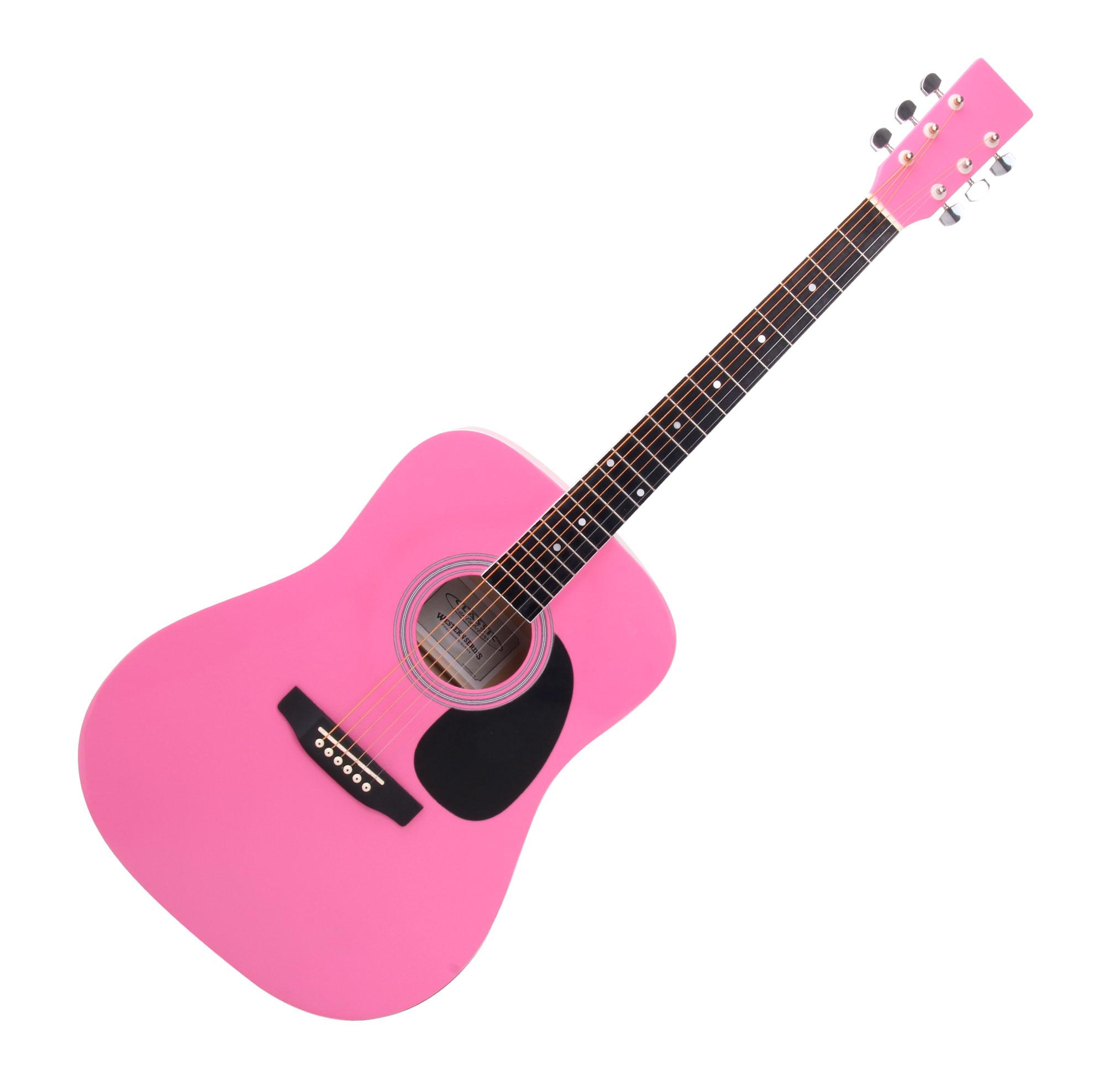 Classic Cantabile Ws 10pk Acoustic Guitar Pink