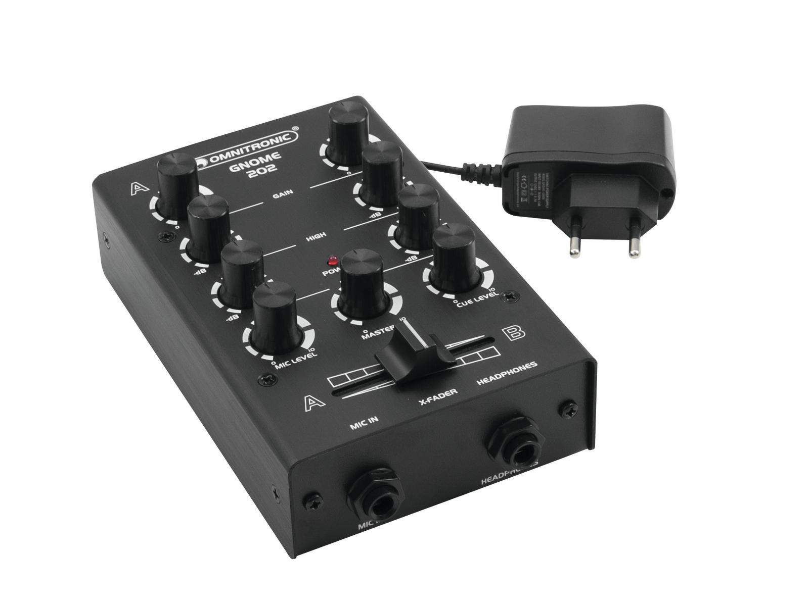 Djmixer - Omnitronic GNOME 202 DJ Mixer - Onlineshop Musikhaus Kirstein