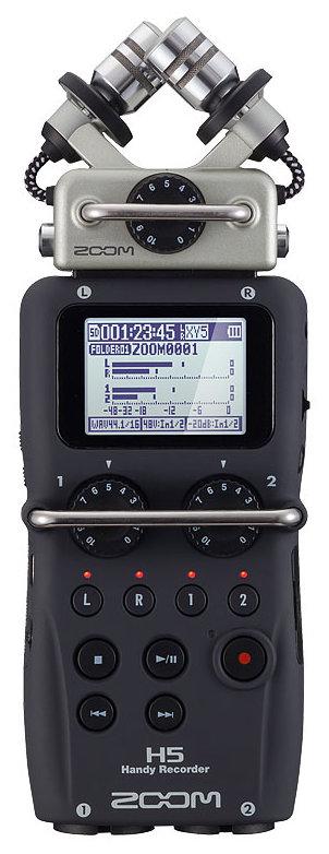 Zoom H5 portabler Audio-Recorder mit Wechselmikrofon-System