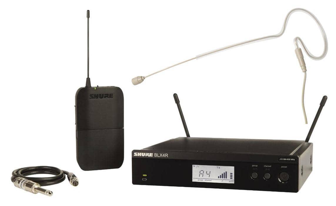 Drahtlossysteme - Shure BLX14R S8 Rack Funksystem Set inkl. Headsetmikrofon - Onlineshop Musikhaus Kirstein