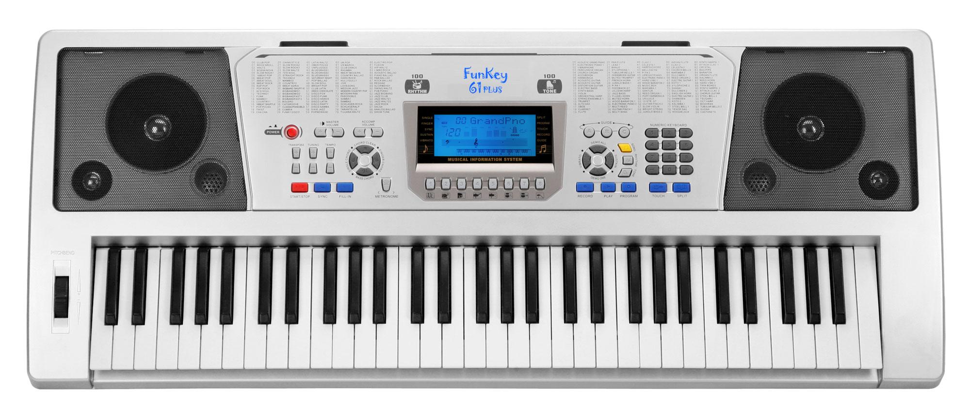 FunKey 61 Plus Keyboard inkl. Netzteil und Notenhalter