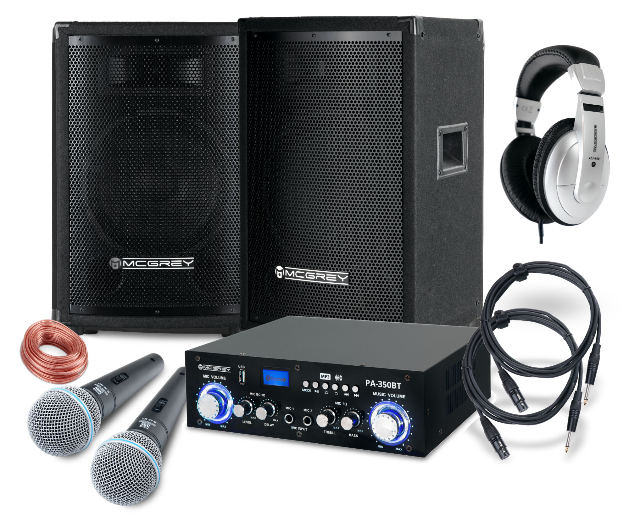 Djkomplettanlagen - McGrey DJ Karaoke Komplettset Party 1500 800W - Onlineshop Musikhaus Kirstein