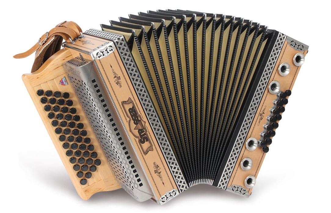 Akkordeons - Strasser 4|III Hoamat Harmonika G C F B, mit X Bass, Erle - Onlineshop Musikhaus Kirstein