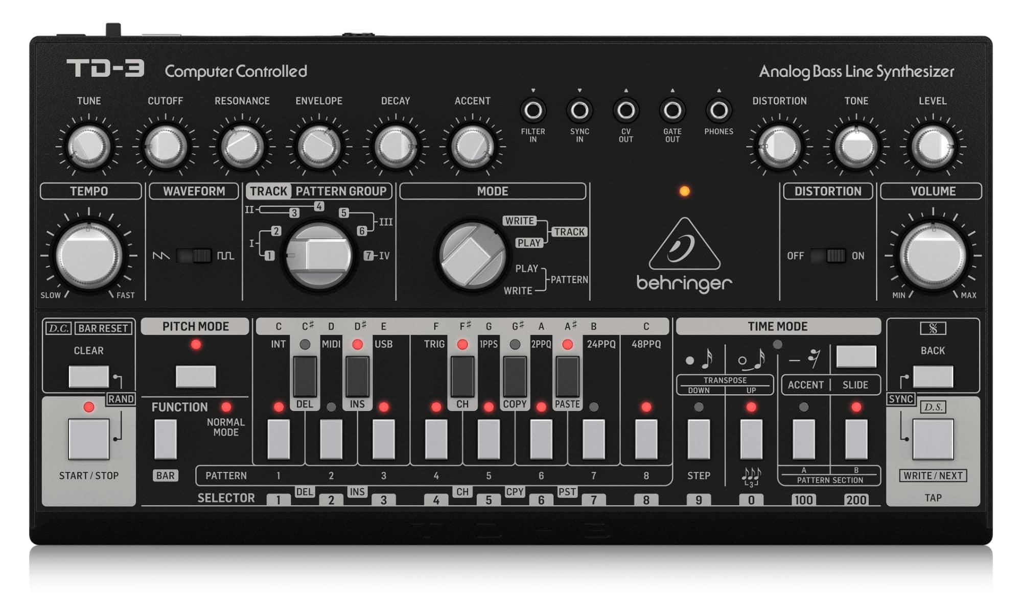 Synthesizer - Behringer TD 3 BK Bass Line Synthesizer - Onlineshop Musikhaus Kirstein
