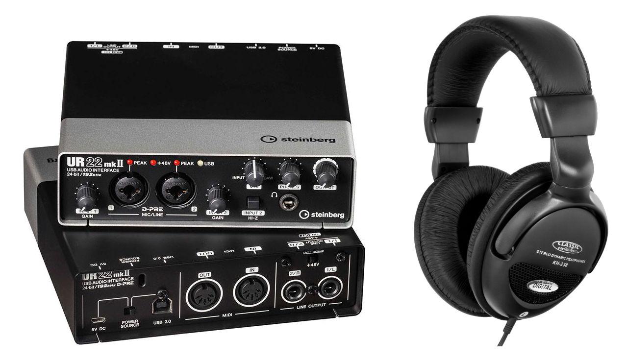 Pchardware - Steinberg UR22 MK2 USB Audio Interface Set - Onlineshop Musikhaus Kirstein