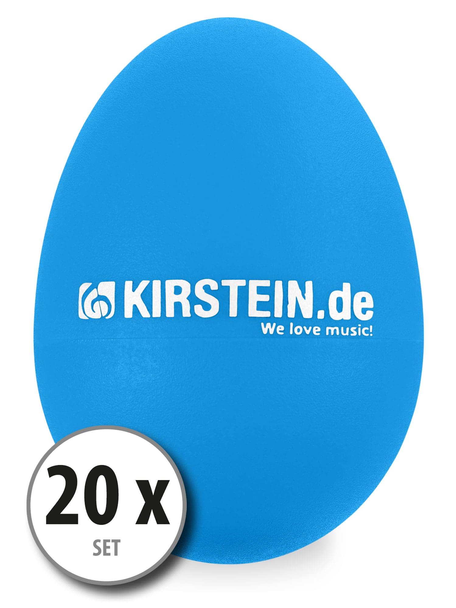 20x Kirstein ES 10B Egg Shaker blau Medium Set