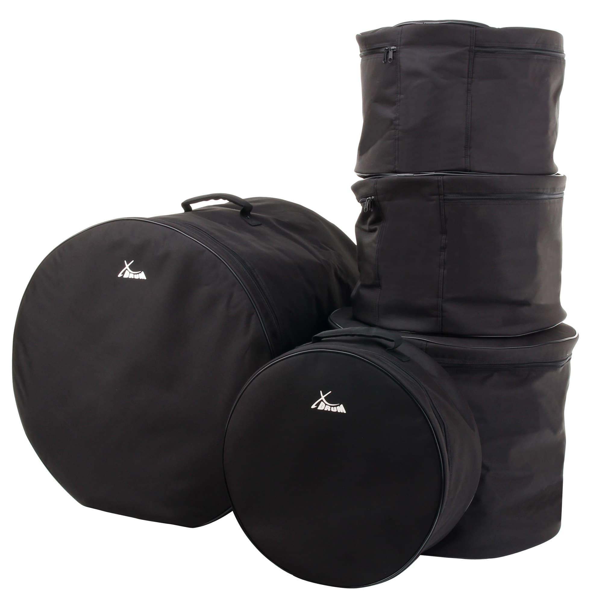 XDrum Schlagzeugtaschen Set, Standard Größen 22',16',13',12' und 14,5'