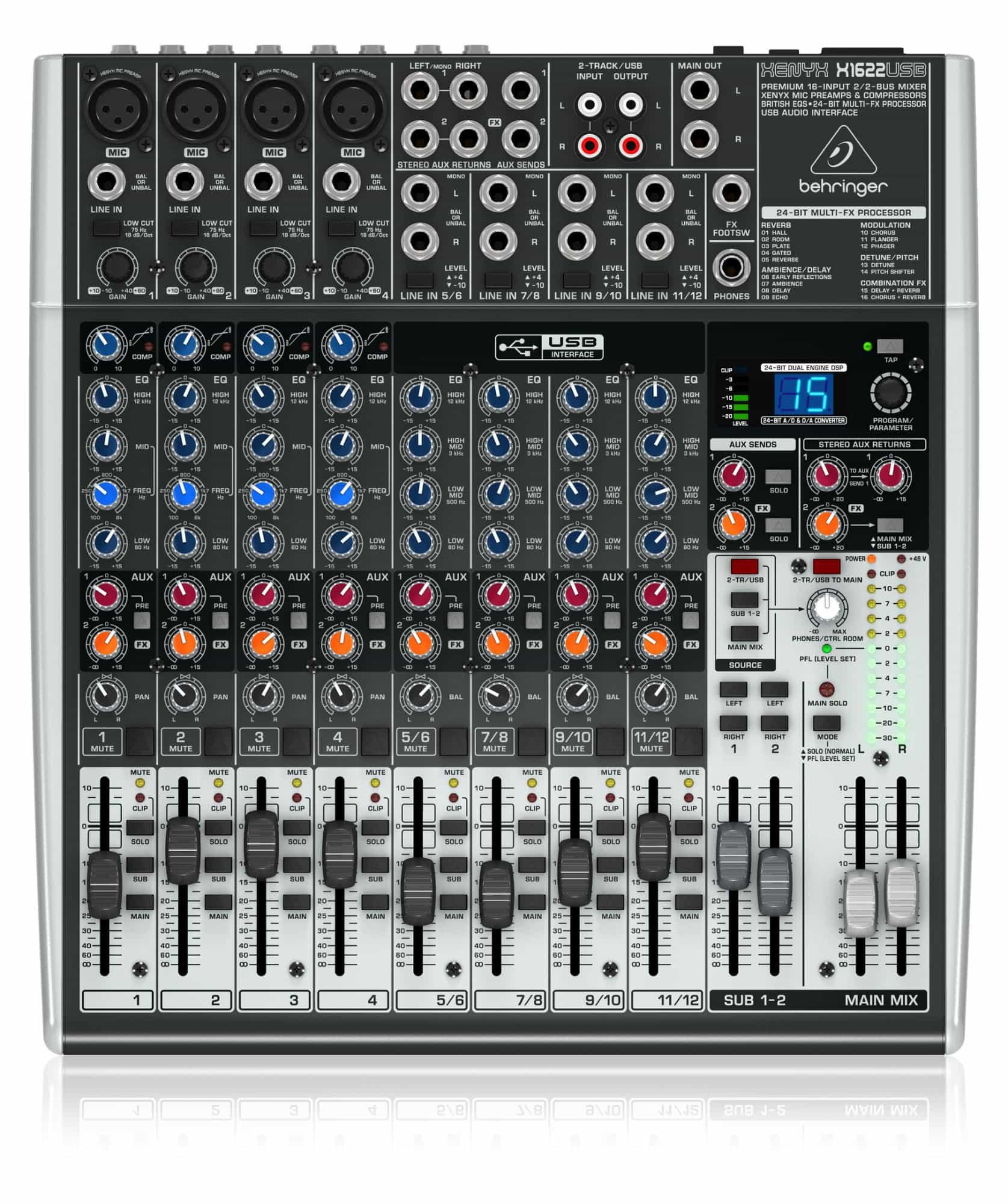 Mischpulte - Behringer Xenyx X1622 USB - Onlineshop Musikhaus Kirstein