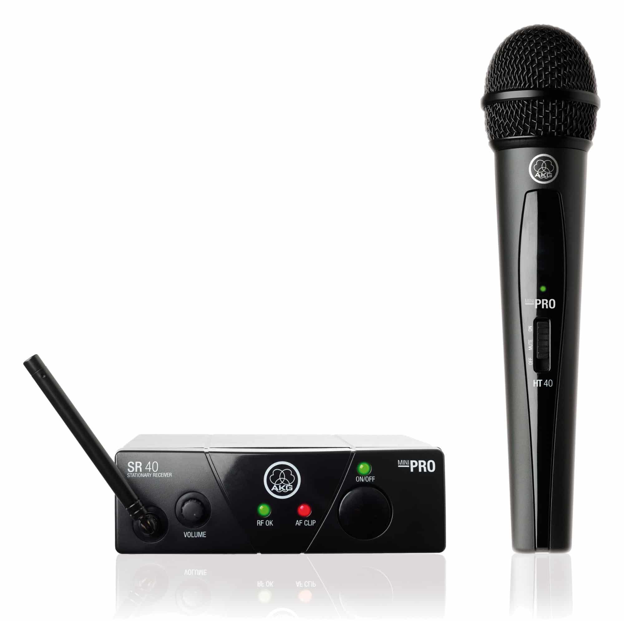 AKG WMS 40 Mini Vocal Handfunkmikrofon Set ISM1 863,100 MHz