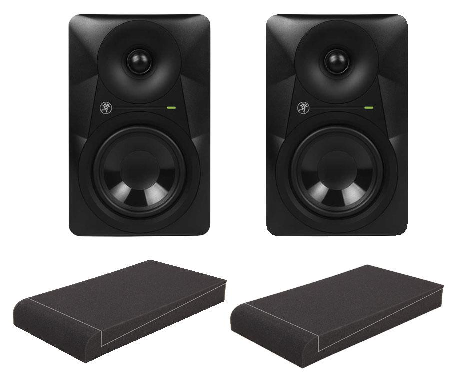 Mackie MR524 Aktive Studio Monitore Set mit 5' Absorberplatten