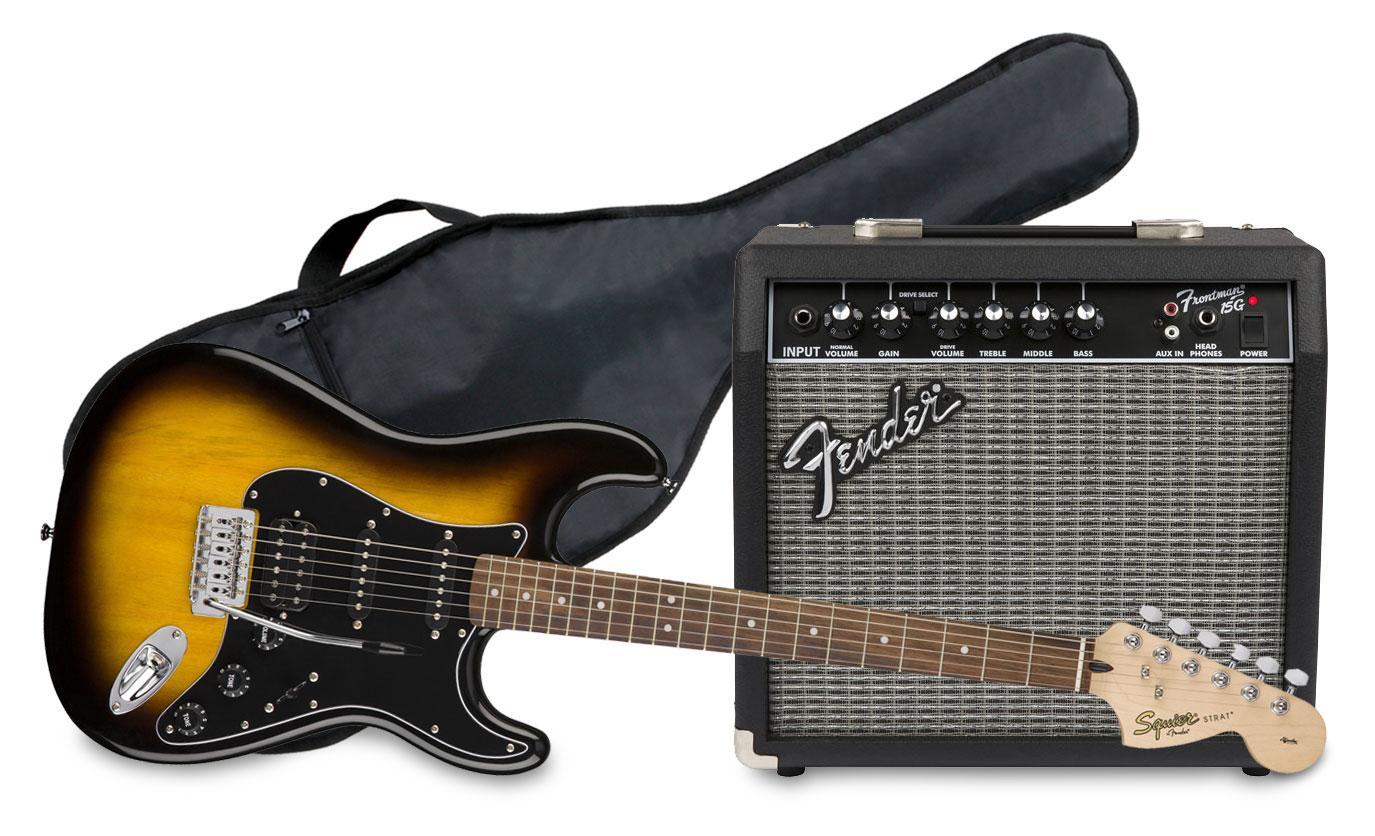 Egitarren - Fender Squier Affinity Strat HSS Pack BSB GIG - Onlineshop Musikhaus Kirstein
