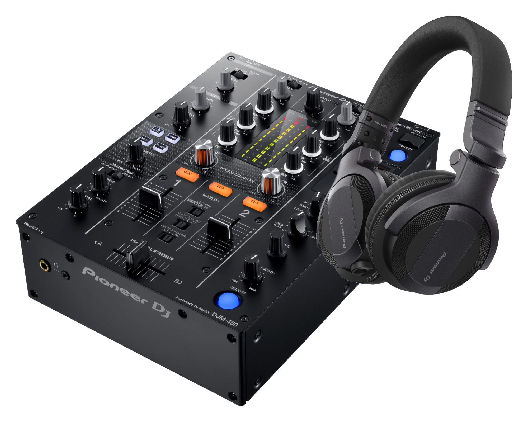 Djmixer - Pioneer DJ DJM 450 HDJ CUE1 SET - Onlineshop Musikhaus Kirstein