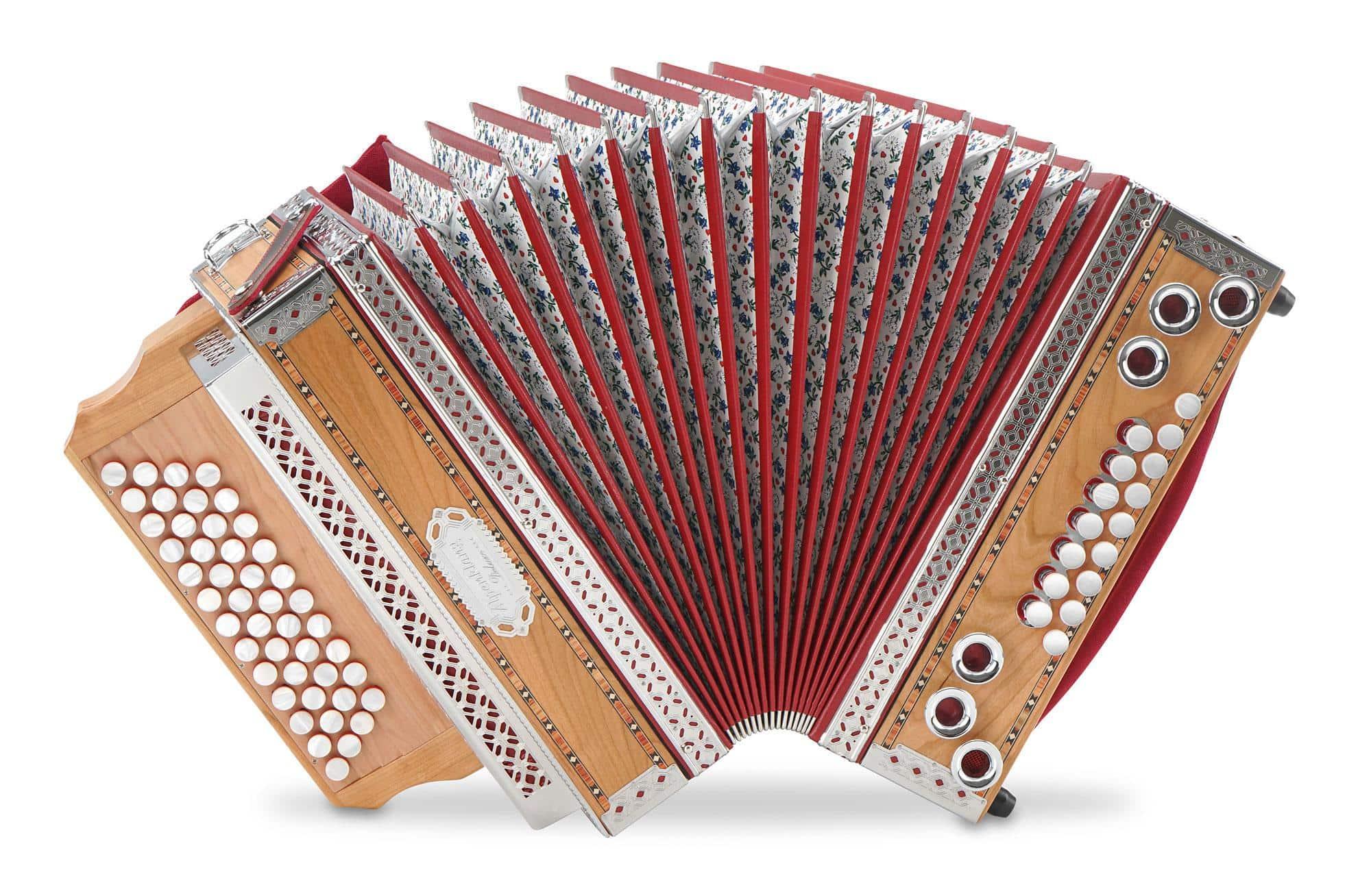 Alpenklang 4|III 'Deluxe' Harmonika G C F B Kirsch
